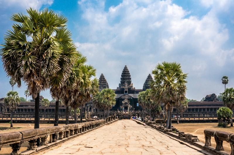 Blick auf das Angkor Wat