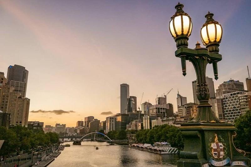 Sonnenuntergang Melbourne