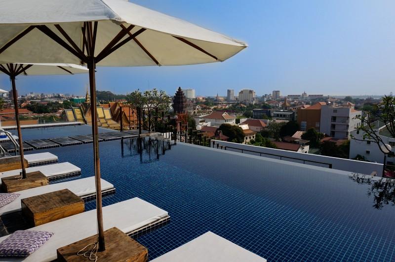 Rooftop Pool in Phnom Penh