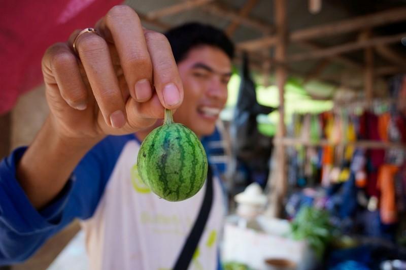kleine Wassermelone auf einem Local Market