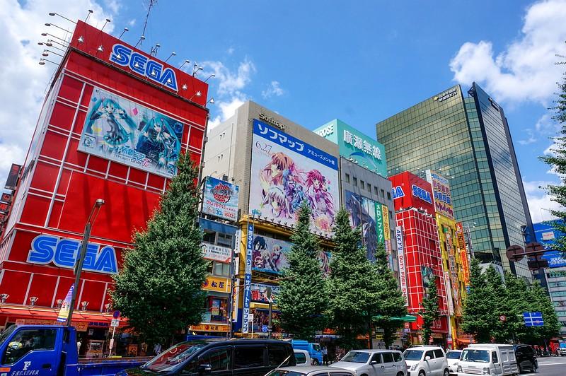 Eines der Sega Gebäude in Akihabara in Tokio