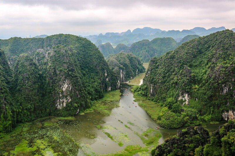 Aussicht in Ninh Binh