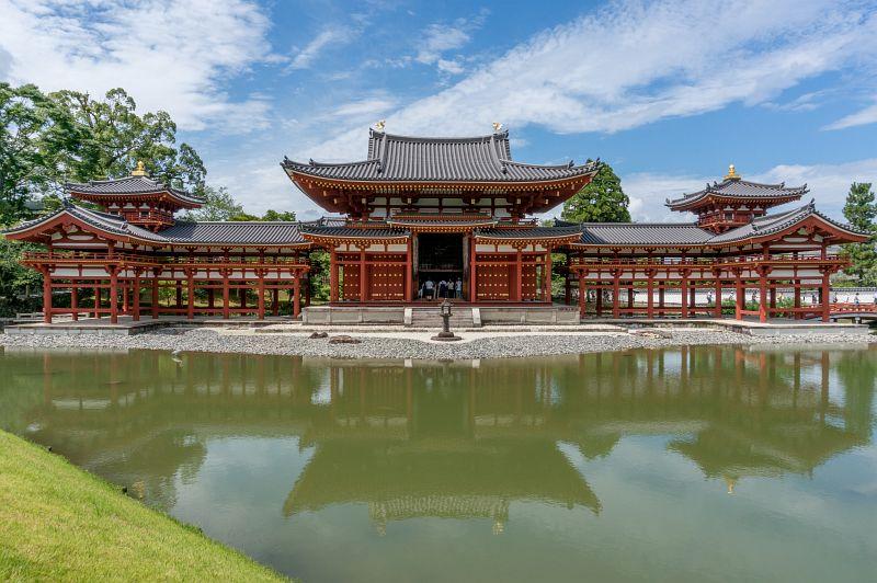 Wunderschöne Phoenix Halle des Byodo-in Tempel in Uji