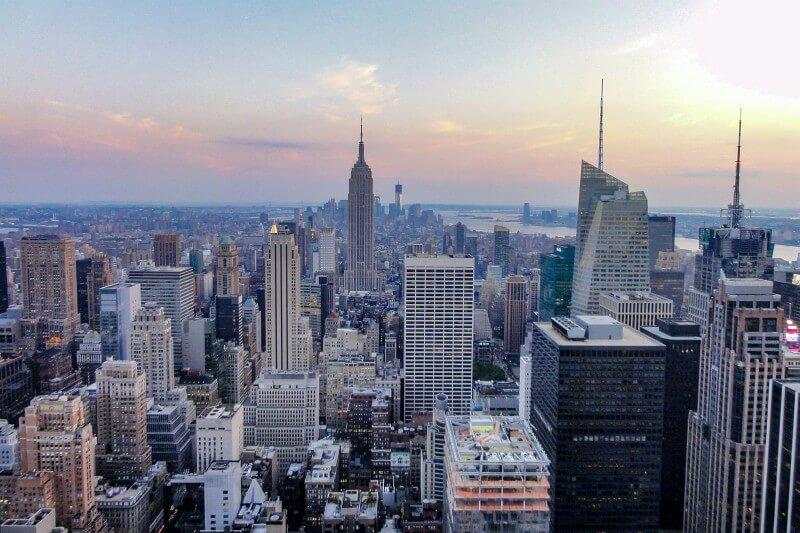 Blick auf das Empire State Building New York