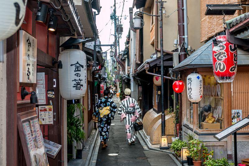 Geishas im Gion Viertel in Kyoto