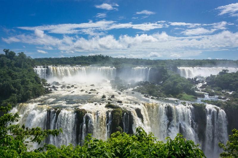 Iguacu Wasserfälle in Brasilien