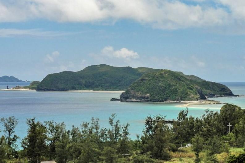 Ausblick auf die Strände der Kerama Islands