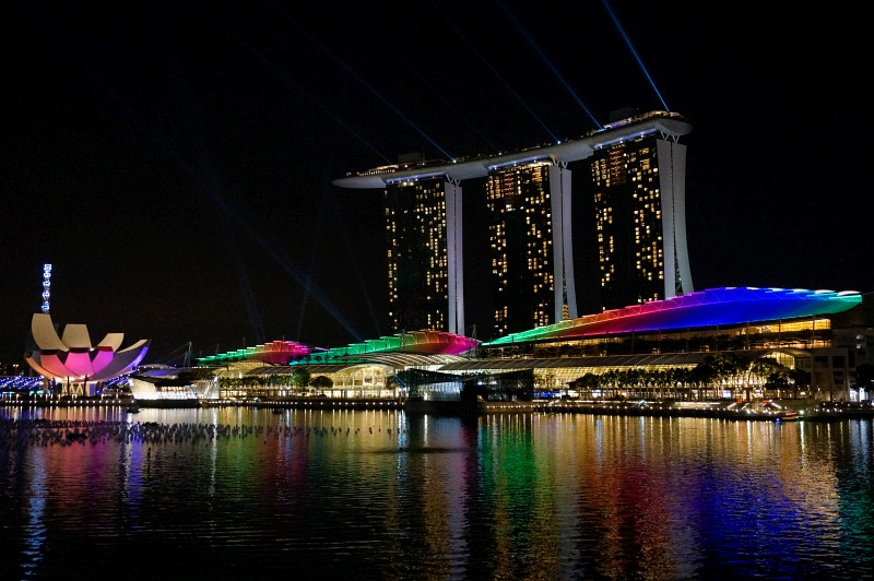Marina Bay Sands Lichtershow