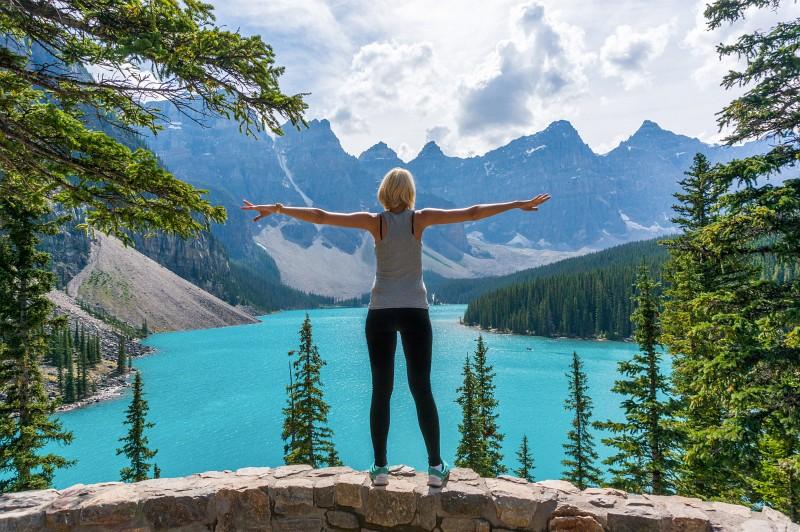 Moraine Lake Rocky Mountains in Kanada