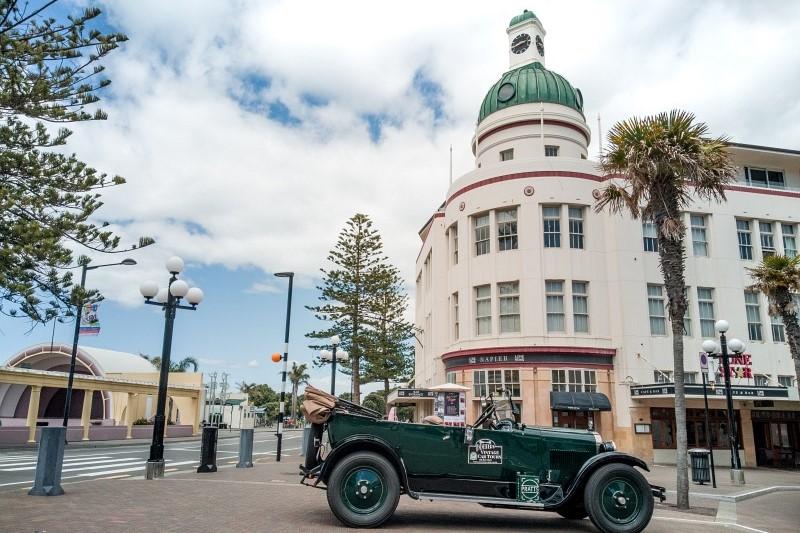 Innenstadt von Napier in Neuseeland