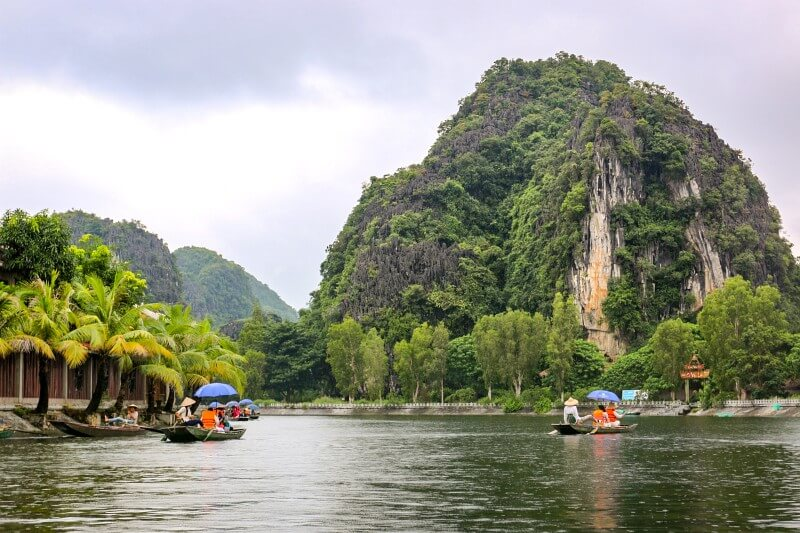 Bootsfahrt Ninh Binh Vietnam