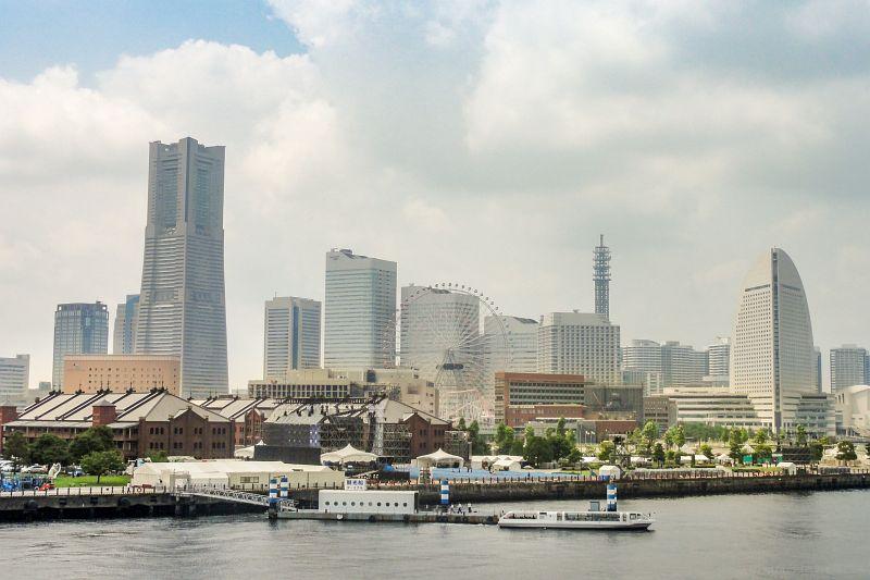 Blick vom Osanbashi Pier in Yokohama