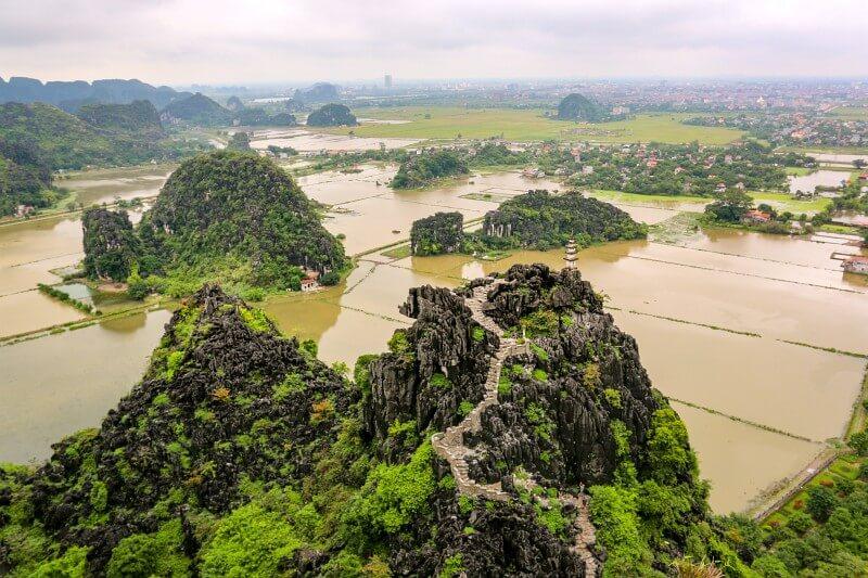 Panoramablick Ninh Binh