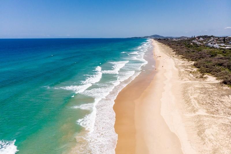 Fast alleine an der Sunshine Coast in Australien