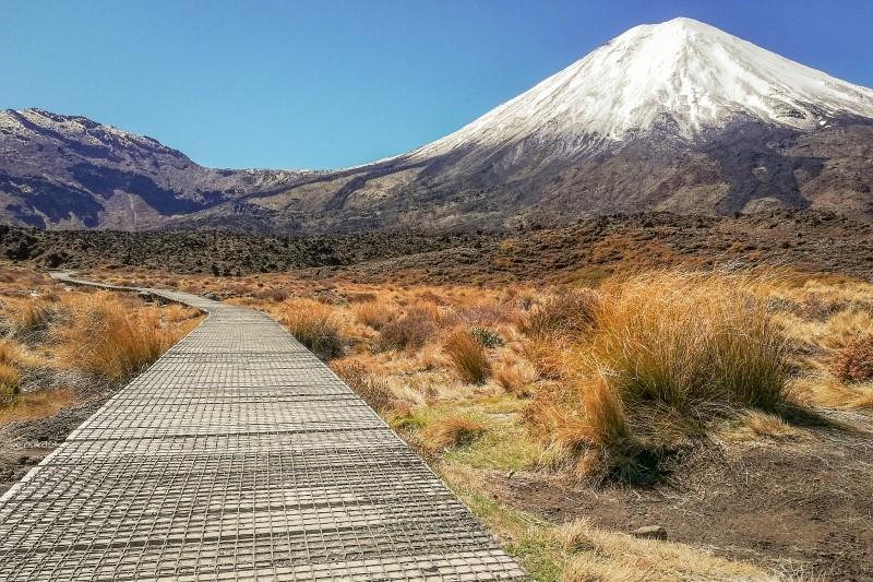 Start des Tongariro Alpine Crossing